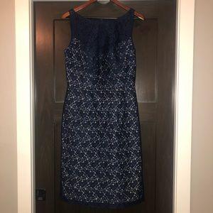 Navy blue lace dress. Worn twice!